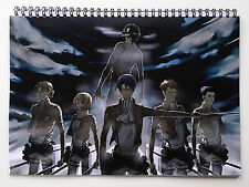 "Wall Calendar 2017 (12 pages 8""X11"" / A4) ATTACK ON TITAN Anime Manga A-725"