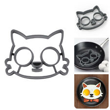 Lovely Cat Shape Silicone Egg Fried Mold Pancake Breakfast Mould Kitchen Tool