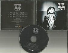 ZZ WARD Put the Gun Down 3TRX 2012 USA PROMO DJ CD single w/ PRINTED LYRICS MINT