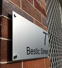 Custom STREET Name HOUSE NUMBER SIGN PLAQUE - Original, Unique, Standoffs