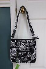 NWT Vera Bradley Midnight Paisley Hipster crossbody handbag purse