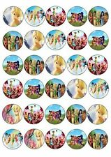 30 X TINKERBELL AND FRIENDS MIXED IMAGES EDIBLE CUPCAKE TOPPERS 177