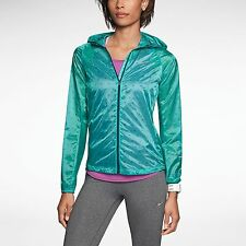 NIKE VAPOR CYCLONE WOMENS M TRACK PACKABLE RUNNING JACKET 588657 383 GREEN $135