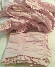 Simply Shabby chic Ruched Pink comforter set TWIN - 2 pc  Bedding Cottage