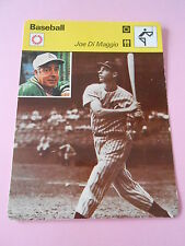 Baseball Joe Di Maggio Californie Fiche Card 1977