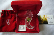 Waterford Society Etched WS 2004 Crystal Seahorse Handcooler/Paperweight MIB