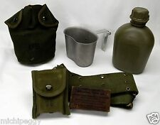US Military 1966 Vietnam Canteen w/Cup, Utility Belt, First Aid Dressing w/Pouch