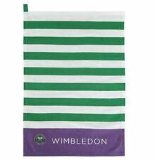 WIMBLEDON THE CHAMPIONSHIP OFFICIAL PURPLE GREEN WHITE TEA TOWEL BRAND NEW