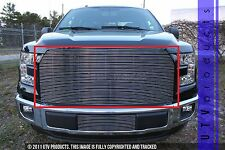 GTG 2015 - 2017 FORD F150 1pc CHROME UPPER REPLACEMENT BILLET GRILLE all F150's