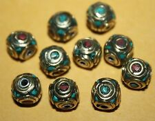 Tibetan beads Nepal beads turquoise beads coral beads 10 Nepalese Beads BDS10