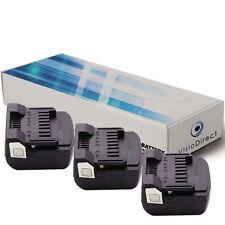 Lot de 3 batteries 14.4V 3000mAh pour Hitachi R 14DSL - Société Française -