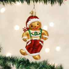 *Frolicking Gingerbread Boy* [32192] Old World Christmas Glass Ornament- NEW