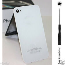 White For iPhone 4S Door Rear Panel Glass Battery Back Cover Housing Replacement