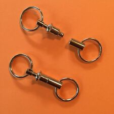 Detachable Pull Apart Quick Release Keychain Key Rings 2 Pack