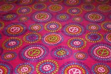"Your Zone Girls Pink Multi-Colored Fleece Peace Sign Throw Blanket 50"" x 60"""