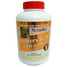 Nutri-Vet Brewers Yeast with Garlic Chewables, 500 Count New