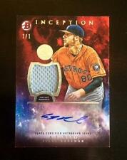 2016 Bowman Inception AJ REED AUTO 1/1 RED Parallel Jersey Rookie Card Astros RC