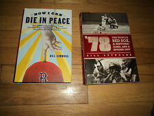 2 Boston Red Sox Books Now I Can Die in Peace & '78 Historic Game NY Yankees