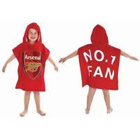 Childrens Kids Arsenal Football Club Poncho Towel 100% Cotton - 60x120cm