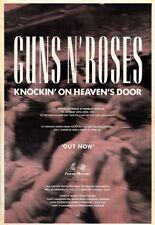 """16/5/92Pgn28 GUNS N ROSES : KNOCKIN' ON HEAVEN'S DORR ALBUM ADVERT 15X11"""""""