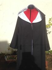 oversized black hooded cloak with sleeves. with White Lining harry wizard school