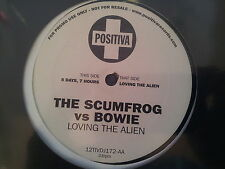 David Bowie vs. The Scumfrog - Loving the alien 12'' Vinyl Promo UK