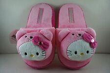 Carino Donne Ragazze Bambini Rosa Pantofole Morbido Peluche 26 cm per HELLO KITTY + ciondolo