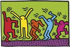 1987, Dance Keith Haring Abstract Contemporary Figurative Print Poster 11x14
