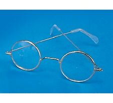 Gold Round Santa Claus Glasses Old Man Woman Metal Wire Frame Granny Holiday