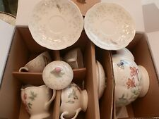 "NEW LENOX BUTTERFLY MEADOW 7 PC TEA SET SERVICE FOR 2 ""NEW IN BOX"""