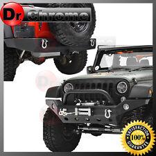 07-16 Jeep Wrangler JK Rock Crawler Full Width Front+Rear Bumper+Winch Plate