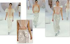 CHANEL Runway Spring 2012 Silver Skirt 36 New