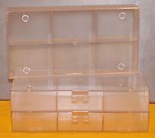 Lot de 5 Boites de 6 cases pour Kinder , miniatures, perles...