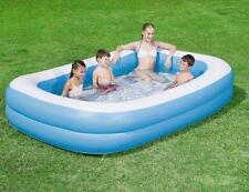 "Gran Jardín Familiar Rectangular Inflable Paddling Piscina 96""x60""x20"""