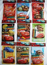 12 Disney Pixar Cars Coloring Book + 48 Crayon Party Favor Bag Fillers Supply ��