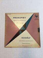 EDMUND KURTZ & BALSAM prokofiev & kodaly sonata for cello & piano LP VG ML 4867