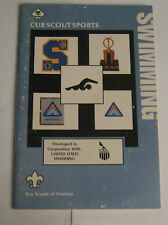 Boy Scouts of America BSA - Cub Scout Sports Swimming Manual 1985