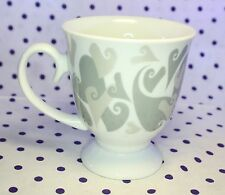 Vintage Mary Kay Love Aimer Hearts Collectible Ceramic Coffee Tea Cup Mug Footed