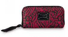 New LOUNGEFLY HELLO KITTY Animal Print Wallet SANRIO Leopard Tassel BLACK PINK