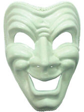 DLX Happy Mask White Greek Masquerade Comedy Play Fancy Dress Stage Mardi Gras