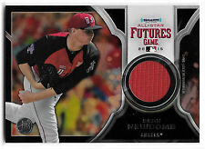SEAN NEWCOMB 2015 BOWMAN DRAFT BLACK FUTURES GAME JERSEY RELIC TRUE #1/1 BRAVES!