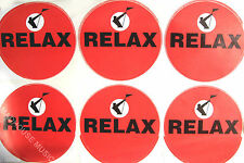 """FRANKIE GOES TO HOLLYWOOD Relax STICKERS UK PROMO ONLY Sheet of 6 x 3.5""""  (9 cm)"""