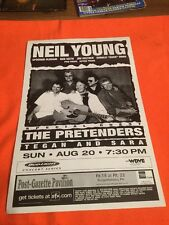 NEIL YOUNG  ORIGINAL  CONCERT  Poster Mint!!  PITTSBURGH SHOW