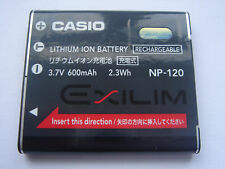 Batterie D'ORIGINE CASIO NP-120 3.7V 600mAh 2.3Wh GENUINE ORIGINALE NEUVE