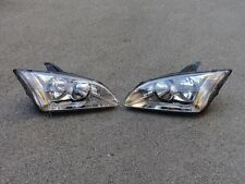 Left + Right Side Headlights Head Lamps Pair for Ford Focus 2005-2007