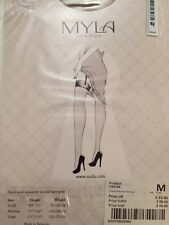 Myla beige/natural stockings, size M, RRP £25