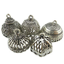 5X Mix Rabbit Lotus Flower Alloy Tent Filigree Pendant Silver(For DIY Earring)