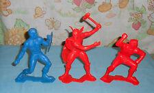 vintage MARX SUPERHEROES LOT x3 plastic figures Thor Hulk Captain America