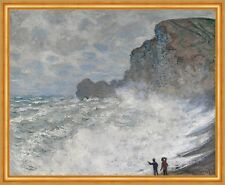 Rough weather at Etretat Claude Monet Wetter Frankreich Küste Meer B A1 01254