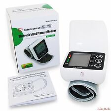 Automatic Intellisense Digital Wrist Blood Pressure Monitor Device Meter Measure